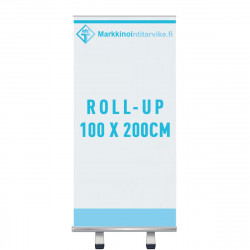 Roll-up 100x200, vuota ja painatus