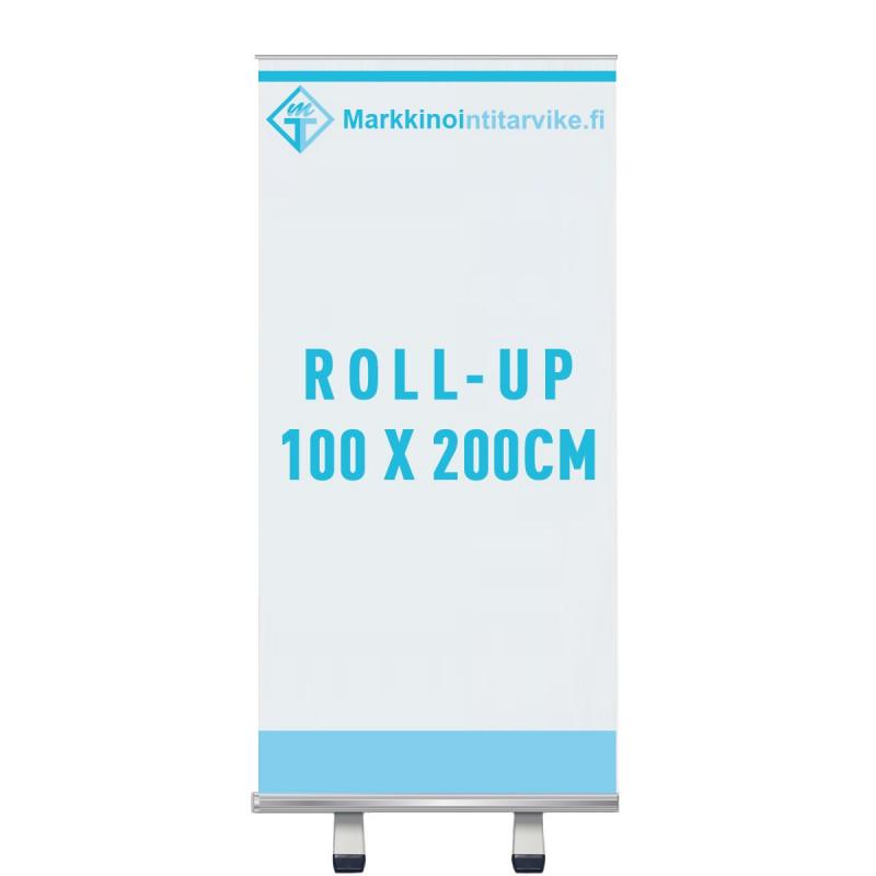 Roll-up 100x200, vuota ja painatus