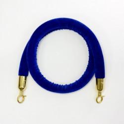 Rajausköysi sininen/ kulta sametti